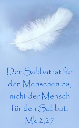 Der Sabbat Ist Für Den Menschen Da